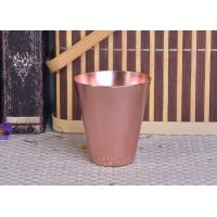 Cheap 95ml Rose Gold Taper Cone Shaped Aluminium Candle Vessel Metal Jars For Candle for sale