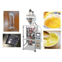 Stainless Steel Automatic Liquid Pouch Packing Machine 0.5 - 1% High Accuracy
