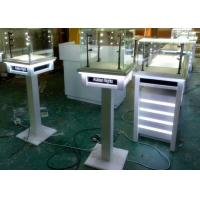 Quality White Painting Color Lockable Glass Display Case For Jewelry Exhibition wholesale