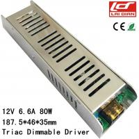 Quality Indoor LED Lighting Power Supply 80 Watt 12V Without Stroboscopic Dimming Drive wholesale