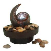 Quality Antique Copper Color Decorative Table Top Water Fountains With Flower Pot wholesale