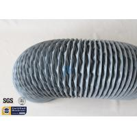 Quality PVC Coated Fiberglass Fabric Flexible Air Ducts 200MM 10M Grey 260℃ HAVC System wholesale