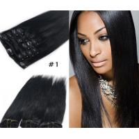 Quality Popular Durable Indian Human Hair Extensions , Clean / Smooth Virgin Remy Straight Hair wholesale