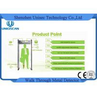 Quality 0-255 Sensitivity multi zones walk through metal detector , security walk through gate wholesale