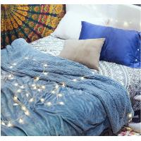 China Double Ply Reversible Velvet Plush Sherpa Blanket for Bedding King Size / Queen Size on sale