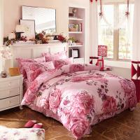 Quality Luxury 4 Piece Cotton Bedding Sets King Size / Twin Size Embroidered Flower wholesale