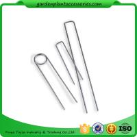 Quality Galvanized Silver Earth Garden Landscape Staples Keep Row Covers Item Garden Earth Staples wholesale