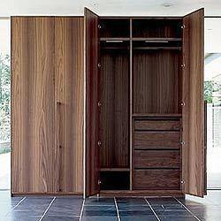 Quality wood grain MFC wardrobe wholesale