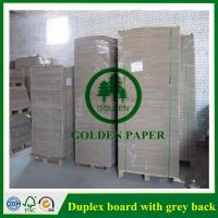Cheap Duplex board with white back for sale