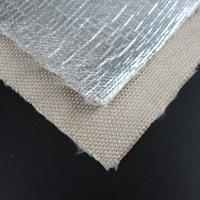 China Dimensional Stability Fiberglass Fabric Cloth 18um Aluminum Foil Coated AL2025 on sale