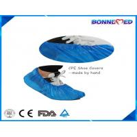 Quality BM-7024 Good Qulaity Hospital Use Disposable SPP Non-woven CPE Material Blue Color Shoe Cover with Anti-skid Printing wholesale