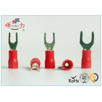 Quality Spade Fork Lug Plastic Crimp Insulated Wire Terminals SVL1.25-4 wholesale