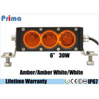 China 6inch 30W Cree Amber White Led Light Bar Single Row Off road 4X4 Vehicles on sale