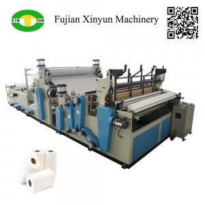 China Full automatic rewinding kitchen towel paper making machine price on sale