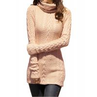 Quality Slim Fit Turtleneck Fashion Pullover Sweaters Cable Knit Jumper Womens wholesale