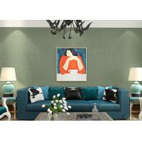 Buy cheap Lounge room Contemporary Wall Coverings , Crack Foaming Silk Solid Color Removable Wallpaper from wholesalers