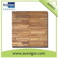 Quality Solid wood mosaic wall tiles with uneven surface for living room wholesale