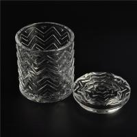 Quality Clear home decoration extra large glass candle holders with glass lid wholesale