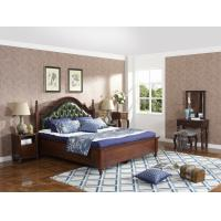 Cheap Rubber Wood made bedroom furniture Cheap malaysia imported Solid wood bed high for sale
