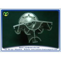 Silver CNC Heat Sink Aluminum Extrusion Profiles Products Solar Lamp