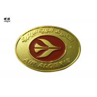 Quality Zinc Alloy Material Gold Collector Coins , Red Color Fill Elongated Navy Challenge Coins wholesale