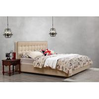 Cheap Good quality PU/ Imported Cow ISO9001 Leather Upholstered King Bed Frame Leisure Furniture for Hotel house Bedroom Suite for sale