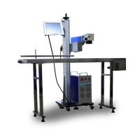Quality Steel Titanium Copper Laser Marking Machine Fast Speed Flying 20w wholesale