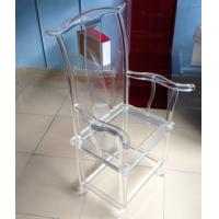 Quality High Transparency Crystal Acrylic Chair For Restaurant , Transparent wholesale