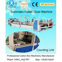 Quality Automatic Corrugated Box Folder Gluer / Carton Folding Gluing Machine 380V wholesale