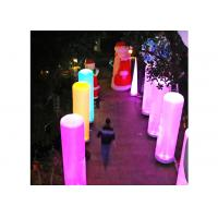 China Customized Inflatable Led Light For Activity Decoration , Advertising Inflatable Pillar on sale