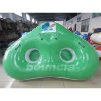 Quality Colorful 0.9mm PVC Tarpaulin 2 Riders Inflatable Ski Tubes For Water Games wholesale