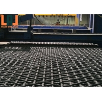 Crimped Vibrating Mining Screen Mesh High Durability 3mm Black Wire for sale