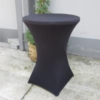China black outdoor spandex bistro table cover stretch cocktail table cover fit 60-80cm high tables on sale