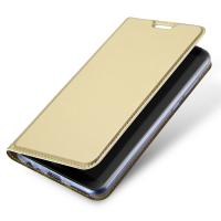 Cheap Gold Huawei Phone Cases / Huawei Mate 10 Lite PU Leather Phone Cover With Magnet for sale