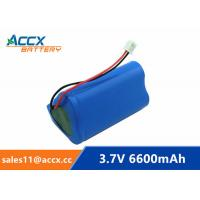 Quality 18650 3.7V 6600mAh rechargeable li-ion battery pack 1S3P for home appliancewi with jst connector and PCM wholesale