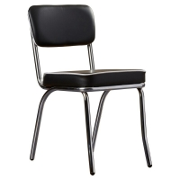 China Leather Upholstered Steel Frame Dining Chair 12KGS 890mm 430mm on sale