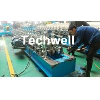 Quality Hat Channel Cold Roll Forming Machine With Hydraulic Cutting Type & PLC Frequency Control wholesale