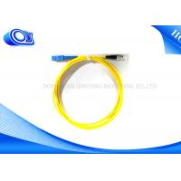 China 3 meters Single mode Fiber Optic Patch Cord SC To FC, 9/125 on sale