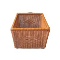 Quality Eco-friendly Poly Bathroom Wicker Stackable Laundry Basket For Hotel wholesale