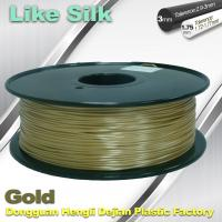 Quality Polymer Composites 3D Printer Filament , 1.75mm / 3.0mm , Gold Colors. Like Silk Filament wholesale