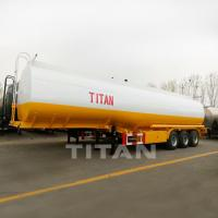 China TITAN 33000 litres fuel tanker trailer palm oil storage tanker truck for palm oil on sale