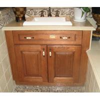 Quality Oak solid wood vanity,Wooden bathroom cabinet,Floor installed bathroom cabinet wholesale