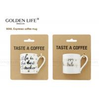 Buy cheap BSCI DISNEY Certificated Espresso Coffee Mugs 90mL Capacity With Happy Birthday from wholesalers