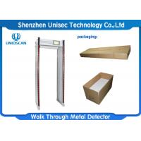 Quality UNIQSCAN UZ800 Walk Through Metal Detector With Aluminum Control Panel wholesale