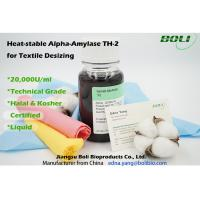 Quality Light Brown Liquid Alpha Amylase Enzyme Technical Grade Desizing Rate 90 ~ 95% Commercial wholesale