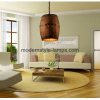 Quality Hotel Winery Decoration Wood Modern Chandelier Barrel Wood Pendant Light wholesale