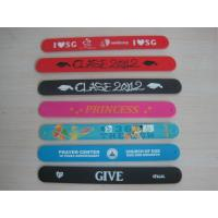 Quality silicone papa slap bracelet , full color silicone slapbands wholesale