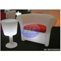 China LLDPE Plastic Rotational Moulding For Roto Molded LED Light Sofa And Table Parts on sale