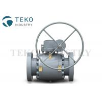 Quality High Pressure Trunnion Mounted Flange End Ball Valve With Gear Operation wholesale