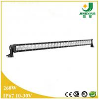 Quality 49 inch single row 12v led light bar 260w boat led light bar wholesale